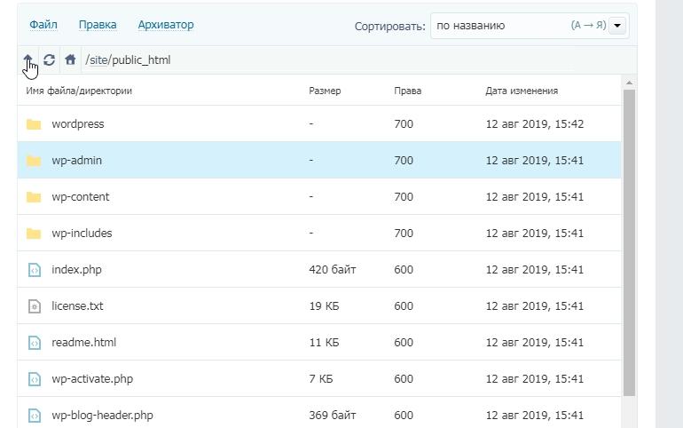 Вынесли содержимое папки WordPress в public_html